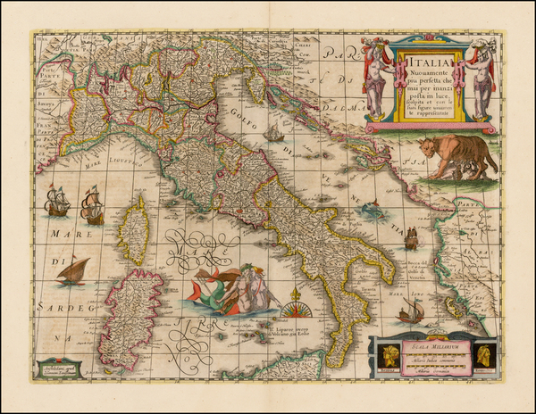33-Italy and Other Islands Map By Henricus Hondius