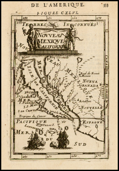 19-Baja California and California Map By Alain Manesson Mallet