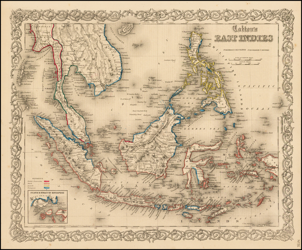 56-Southeast Asia, Philippines and Other Pacific Islands Map By Joseph Hutchins Colton