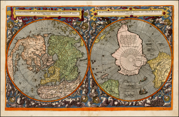 65-World, World and Polar Maps Map By Cornelis de Jode