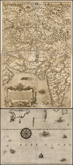 96-India, Other Islands and Central Asia & Caucasus Map By Giovanni Francesco Camocio
