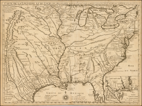22-South, Southeast, Texas, Midwest, Plains, Southwest and Rocky Mountains Map By Guillaume De L'I