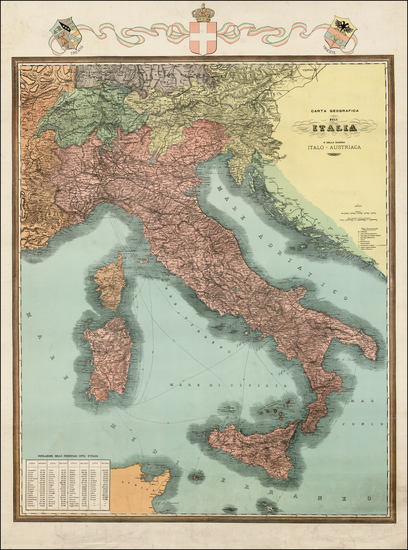 89-Austria and Italy Map By Anonymous