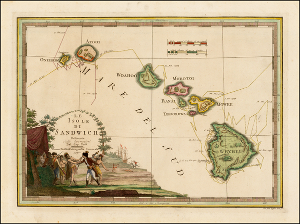 54-Hawaii, Hawaii and Other Pacific Islands Map By Giovanni Maria Cassini