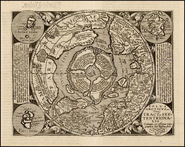 36-Northern Hemisphere and Polar Maps Map By Matthias Quad