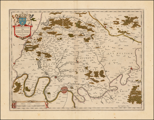 7-France and Paris Map By Willem Janszoon Blaeu