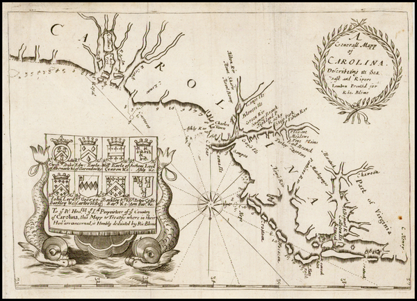 70-New England, Mid-Atlantic and Southeast Map By Richard Blome