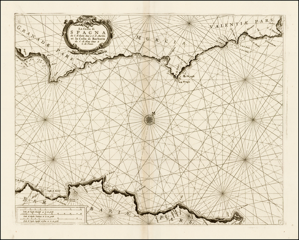 37-Spain and Mediterranean Map By Vincenzo Maria Coronelli