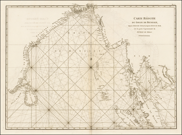 Indian Ocean, India, Southeast Asia and Other Islands Map By Jean-Baptiste-Nicolas-Denis d'Après de Mannevillette