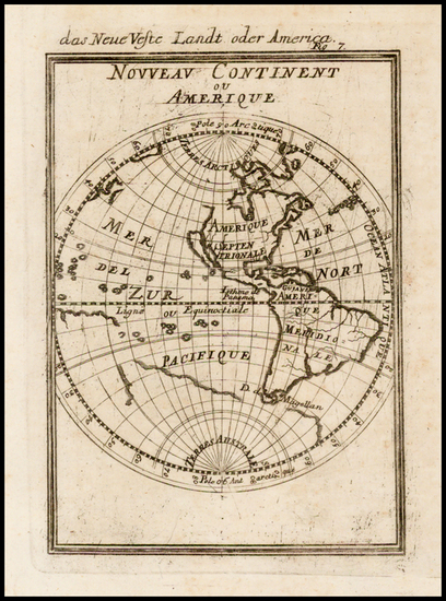 35-Western Hemisphere, South America and America Map By Alain Manesson Mallet