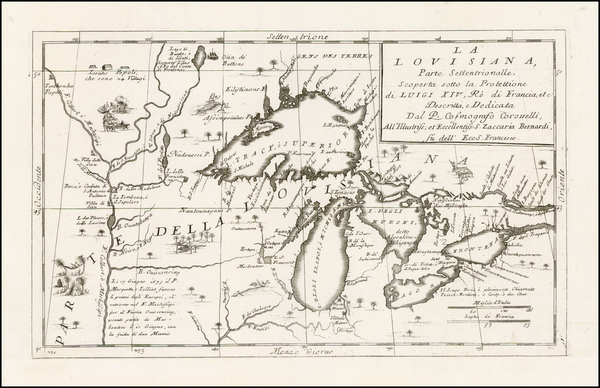 90-Midwest and Canada Map By Vincenzo Maria Coronelli