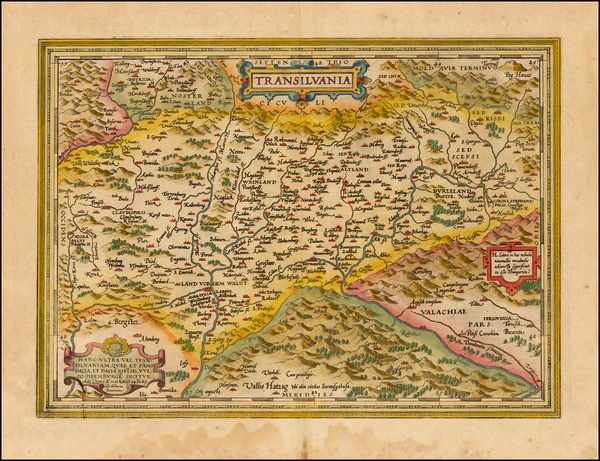 8-Romania and Balkans Map By Abraham Ortelius