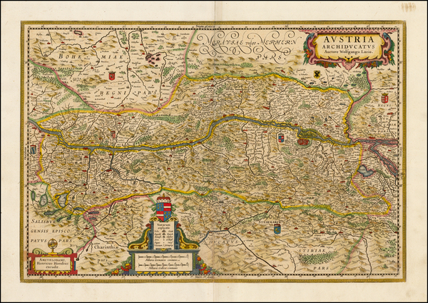 6-Austria and Czech Republic & Slovakia Map By Henricus Hondius