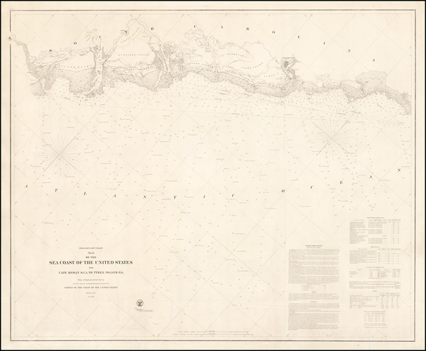 70-South Carolina Map By United States Coast Survey