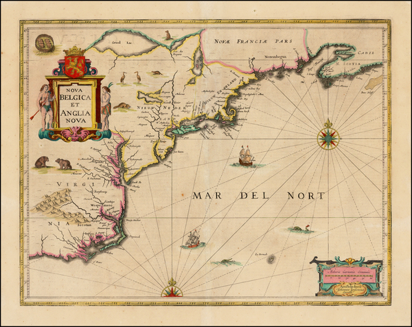 97-New England, Mid-Atlantic and Southeast Map By Jan Jansson