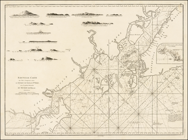 Southeast Asia, Singapore, Malaysia and Other Islands Map By Jean-Baptiste-Nicolas-Denis d'Après de Mannevillette