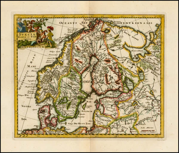 81-Scandinavia Map By Philipp Clüver