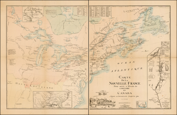 New England, Midwest and Canada Map By Burland-Desperats
