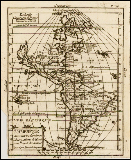 45-South America and America Map By Denise Macquart