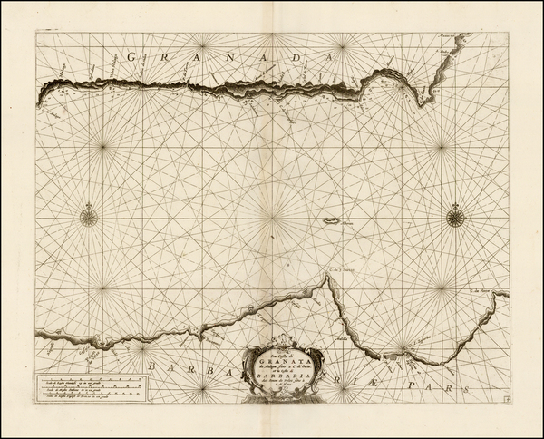 48-Spain and Mediterranean Map By Vincenzo Maria Coronelli