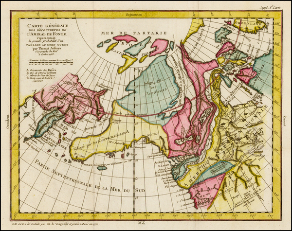 81-Alaska, Canada and Russia in Asia Map By Denis Diderot