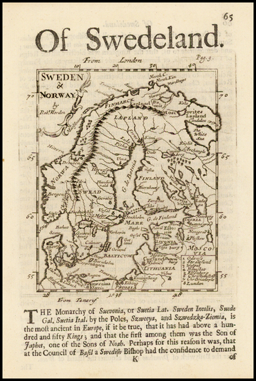 51-Scandinavia Map By Robert Morden