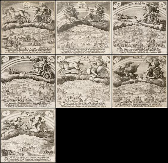97-Curiosities and Celestial Maps Map By Maerten de Vos