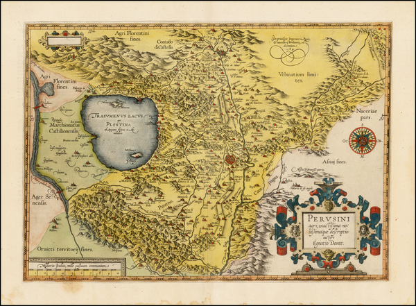 3-Italy Map By Abraham Ortelius