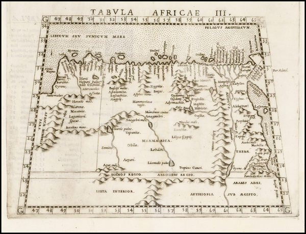 33-Egypt and North Africa Map By Girolamo Ruscelli