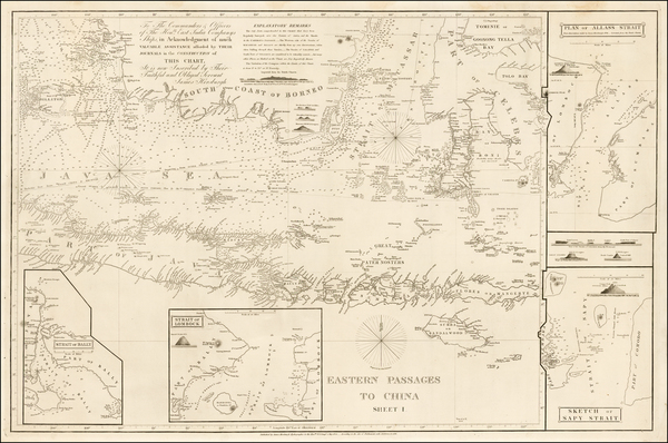 10-Southeast Asia, Indonesia and Other Islands Map By James Horsburgh