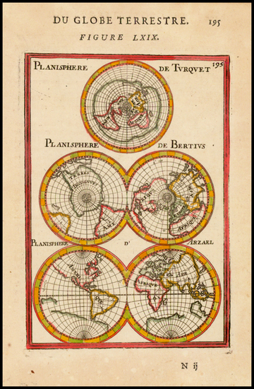 88-Southern Hemisphere, Polar Maps, Australia and Oceania Map By Alain Manesson Mallet