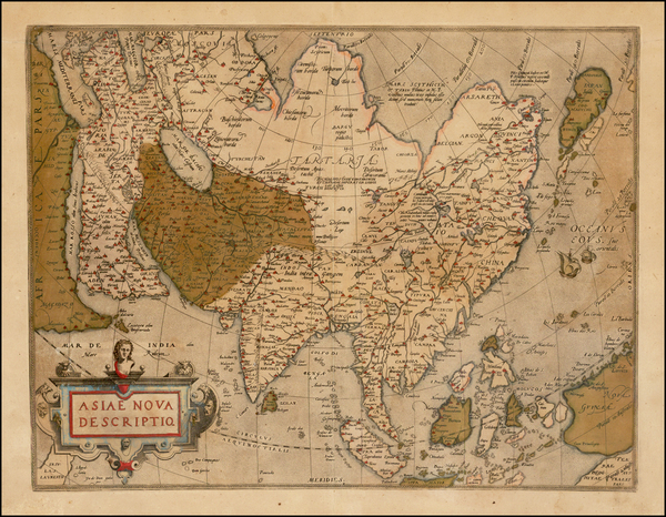 41-Asia, Asia, Australia & Oceania and Oceania Map By Abraham Ortelius