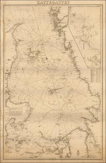 28-Sweden and Denmark Map By Kongelige Danske Søkort-Arkiv