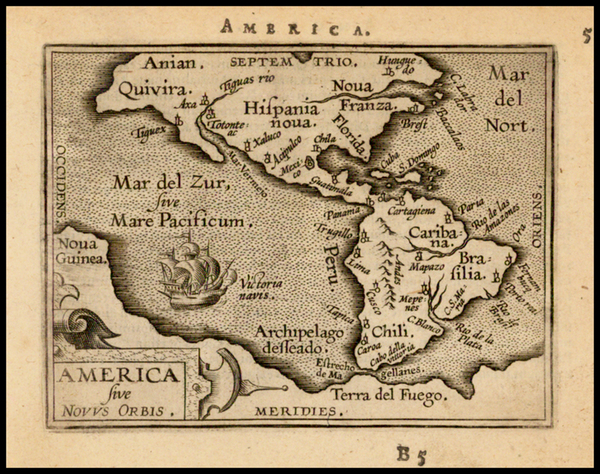 87-Western Hemisphere, South America and America Map By Abraham Ortelius