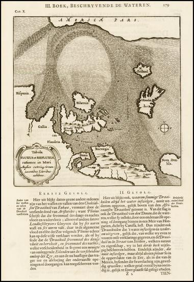 84-Atlantic Ocean, Canada, Europe, Europe, British Isles and Scandinavia Map By Athanasius Kircher