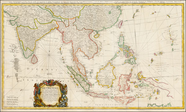 71-Indian Ocean, India, Southeast Asia, Philippines, Indonesia and Malaysia Map By Homann Heirs