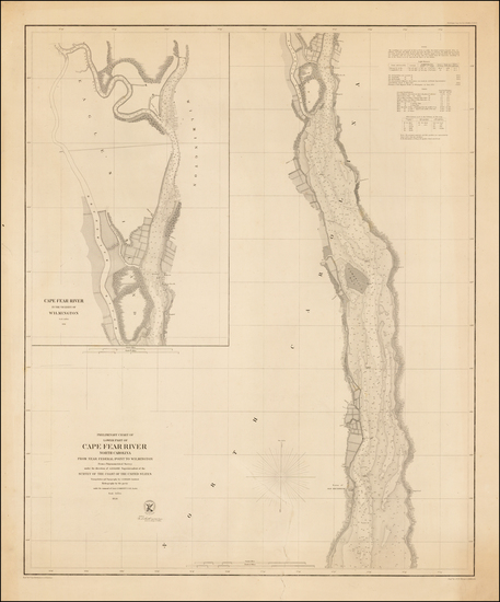 68-Southeast Map By United States Coast Survey