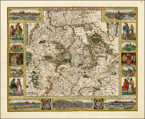 23-Germany Map By Nicolaes Visscher I