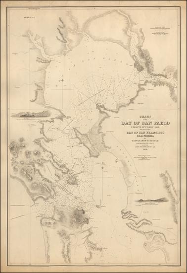 57-California and San Francisco Map By Cadwalader Ringgold