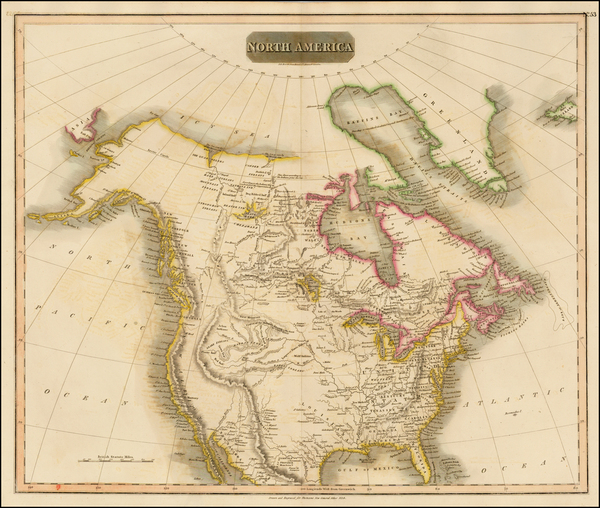 84-North America Map By John Thomson