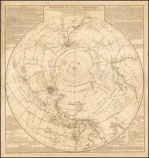 95-Southern Hemisphere, Polar Maps, Australia & Oceania, Australia and Oceania Map By Didier R