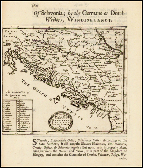 34-Balkans, Croatia & Slovenia and Bosnia & Herzegovina Map By Robert Morden