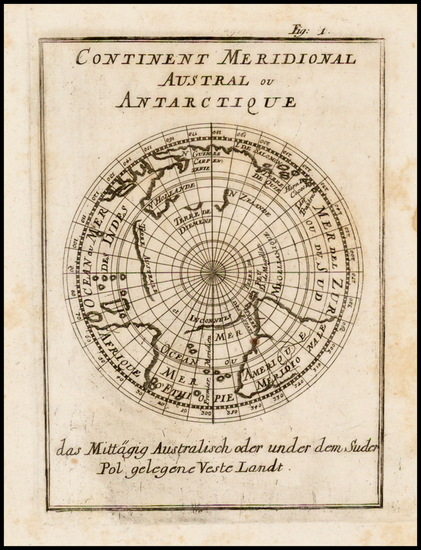 45-Southern Hemisphere, Polar Maps, Australia and Oceania Map By Alain Manesson Mallet
