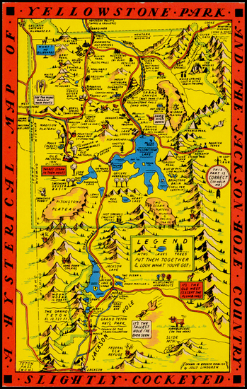 80-Rocky Mountains Map By Lindgren Brothers