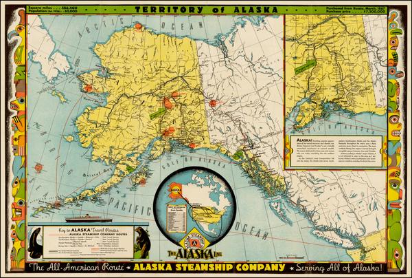 90-Alaska Map By Frank McCaffrey