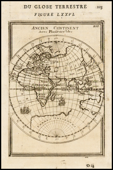 21-Eastern Hemisphere and Australia Map By Alain Manesson Mallet