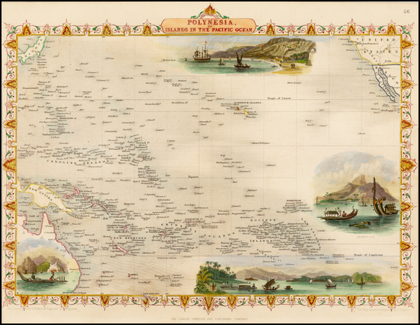 23-Pacific, Oceania, Hawaii and Other Pacific Islands Map By John Tallis