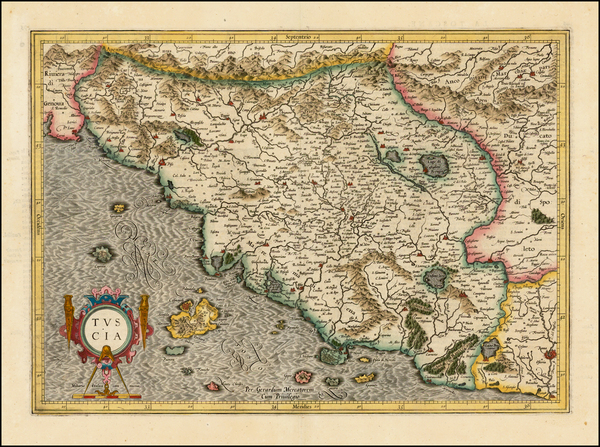 95-Northern Italy Map By  Gerard Mercator