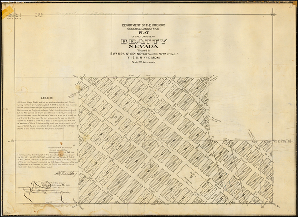 7-Southwest and Nevada Map By General Land Office