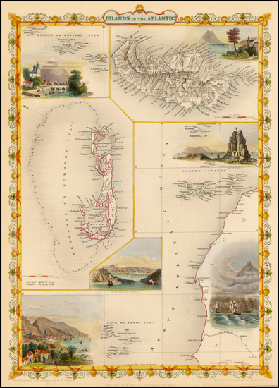 47-Caribbean, African Islands, including Madagascar and Pacific Map By John Tallis